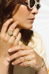 Vintage peach ring gold plated