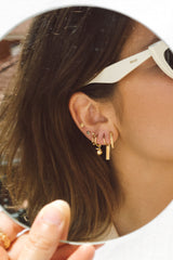 Classic bar earring gold