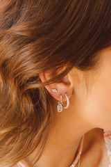 Paradise earring silver