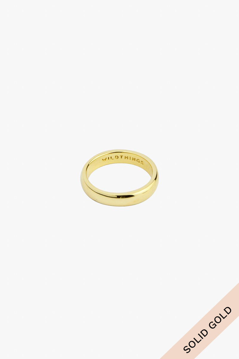 Pinky band 14k solid gold