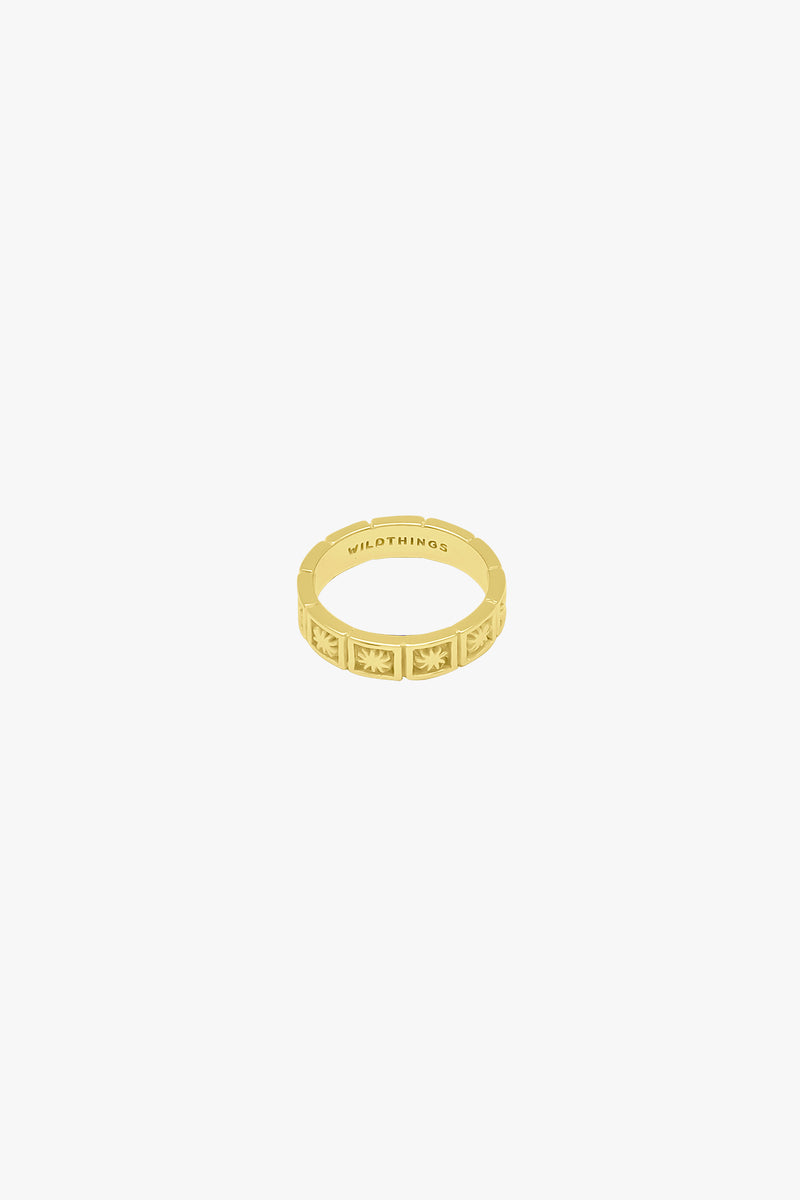 Kissed by the sun ring gold