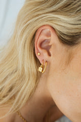 Kissed by the sun stud gold plated