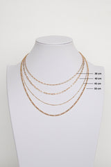Stud chain necklace gold (45cm & 50cm)