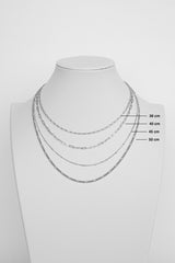 Stud chain necklace silver (45cm & 55cm)