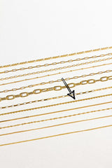 Rope chain necklace gold (45cm)