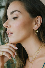 Coin earring gold