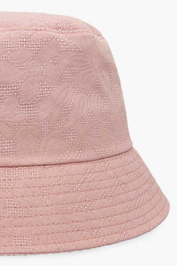 Pink flower bucket hat