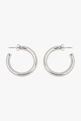 Big hoop earring silver
