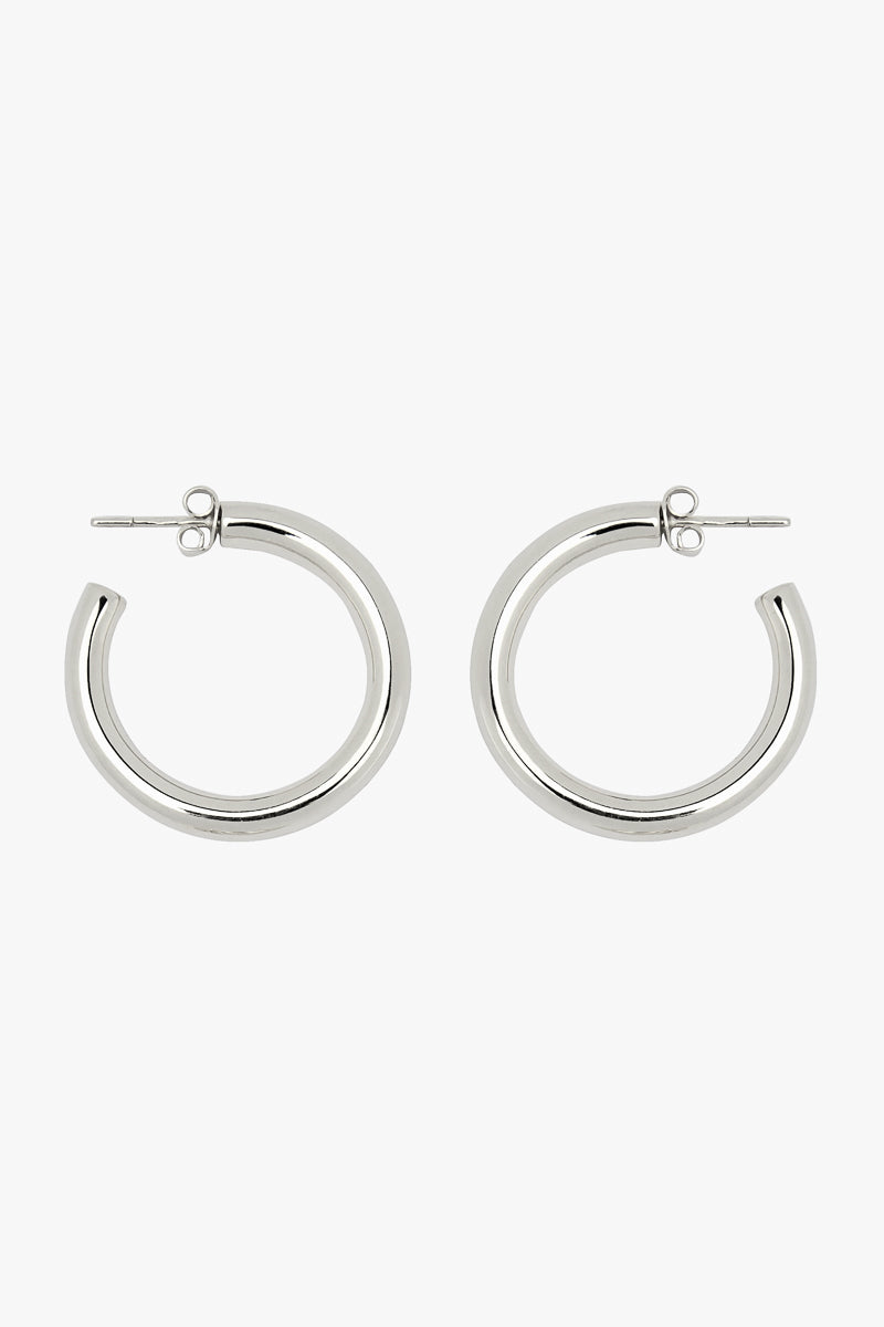Big hoop earring silver (30mm)