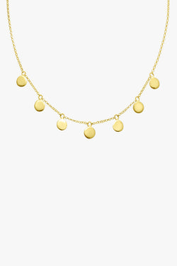 Coin necklace gold plated (37cm)
