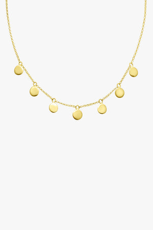Coin necklace gold