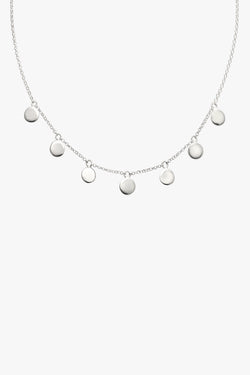 Coin necklace silver (37 cm)