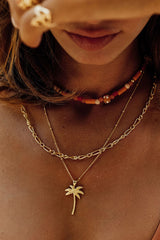 Palm tree pendant gold plated