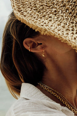 Classic ear cuff gold plated