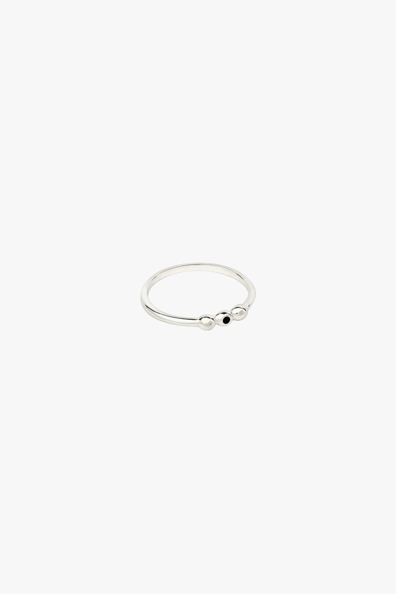 Ellipsis ring silver