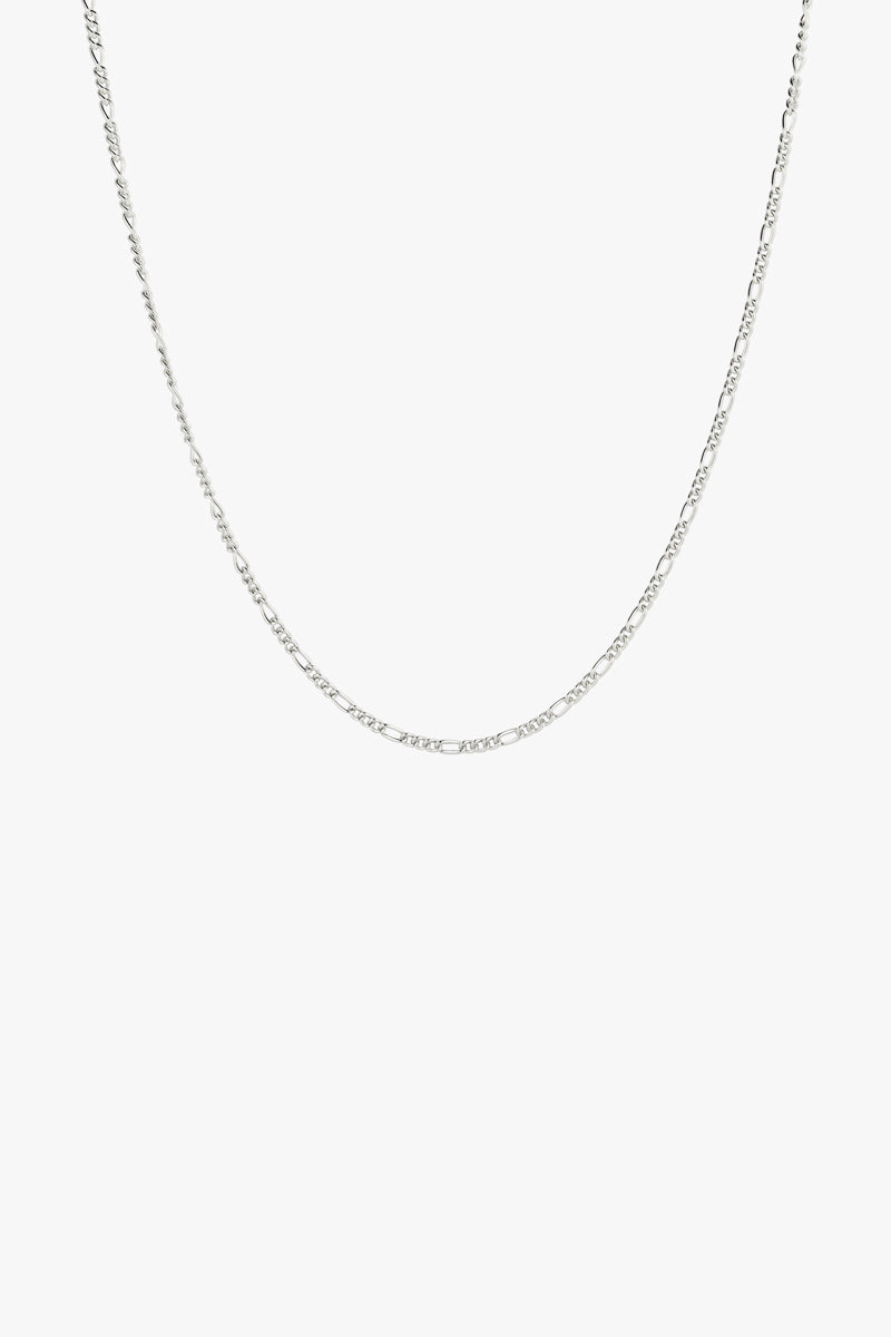 Long figaro chain silver (50cm)