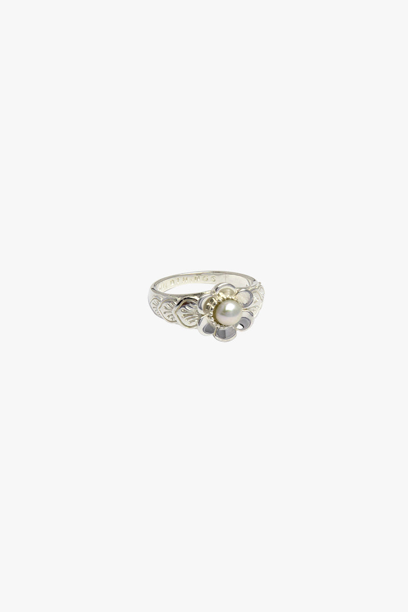Fleur pinky ring silver