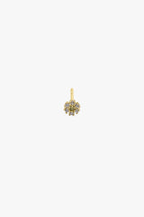 Ice flower stud gold plated