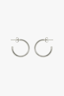 Medium hoop earring silver