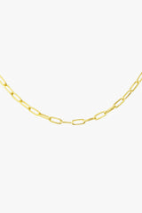 Round gold plated necklace (40cm & 50cm)