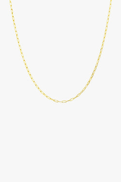 Round gold necklace (40cm & 50cm)