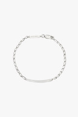 Personalized bar bracelet silver