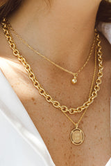 Statement chain necklace gold plated (40 cm)