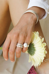 Sun mintage ring silver