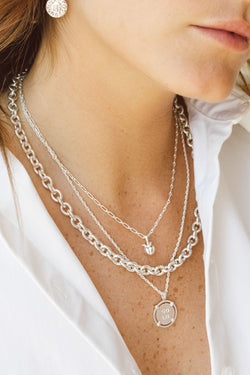 Statement Chain Necklace Silver (40 cm)