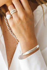 Sunset state of mind bangle silver