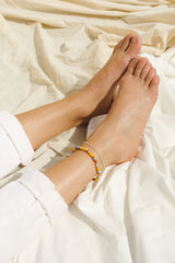 Oval chain anklet silver