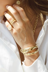 Classic bangle gold plated