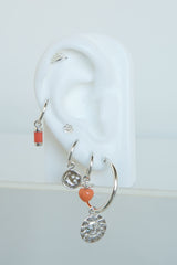 Feeling peachy earring silver
