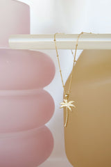 Palm tree pendant gold (PRE-ORDER)