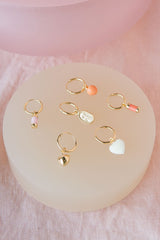 Sunrise earring gold