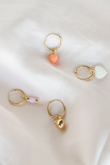 Feeling peachy earring gold