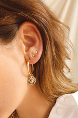 Sunny charm earring gold