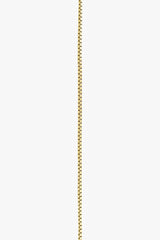Short box necklace 14k solid gold (44cm)