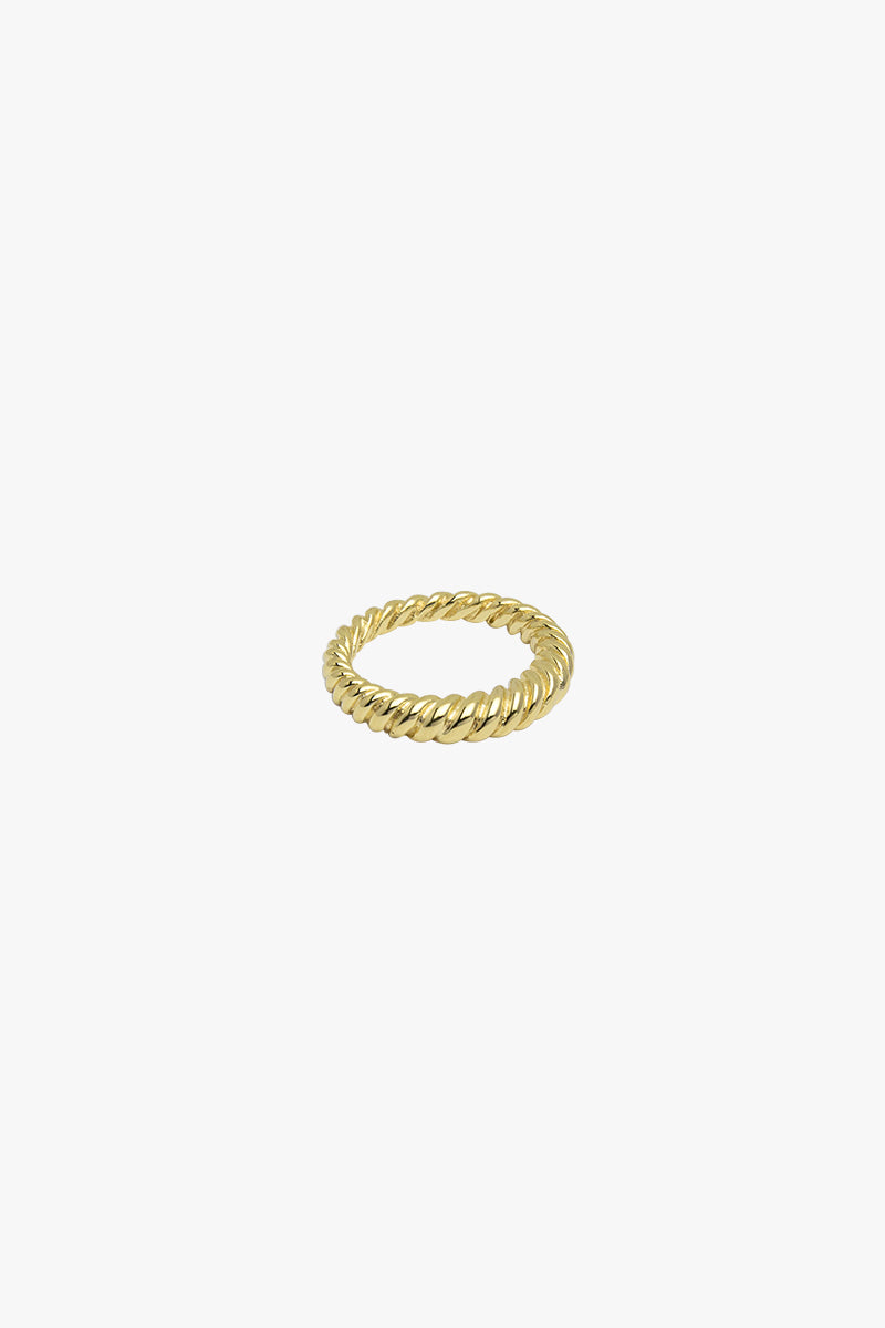 Twisted pinky ring gold