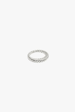 Twisted pinky ring silver
