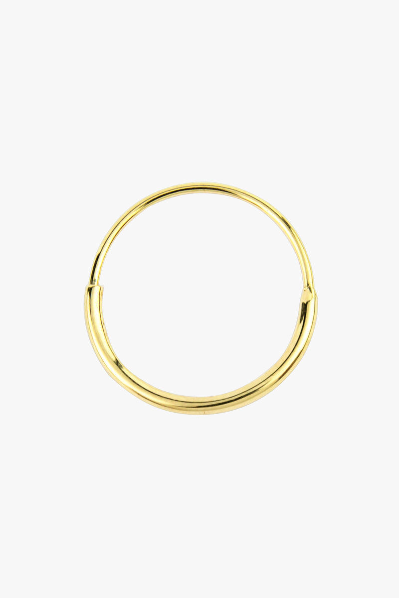 Hoop with detail gold