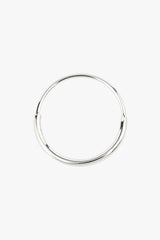 Hoop with detail silver (15mm)
