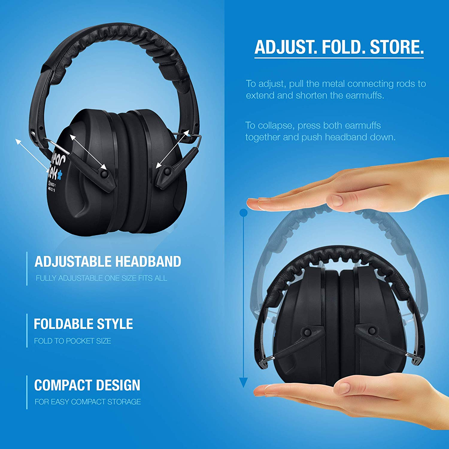 Black HearTek Sammie Earmuffs for Kids