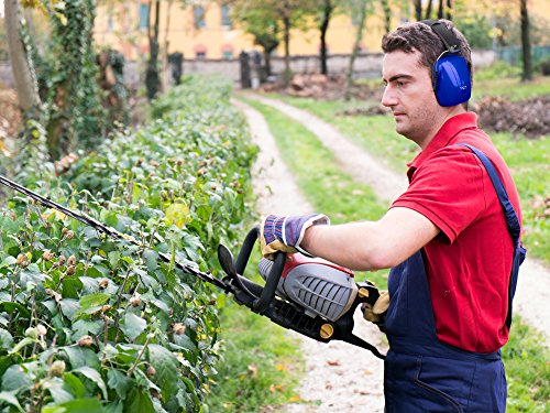 Safety Ear Muffs Adjustable Adult Size Noise Canceling Ear Hearing Protection Dark Blue