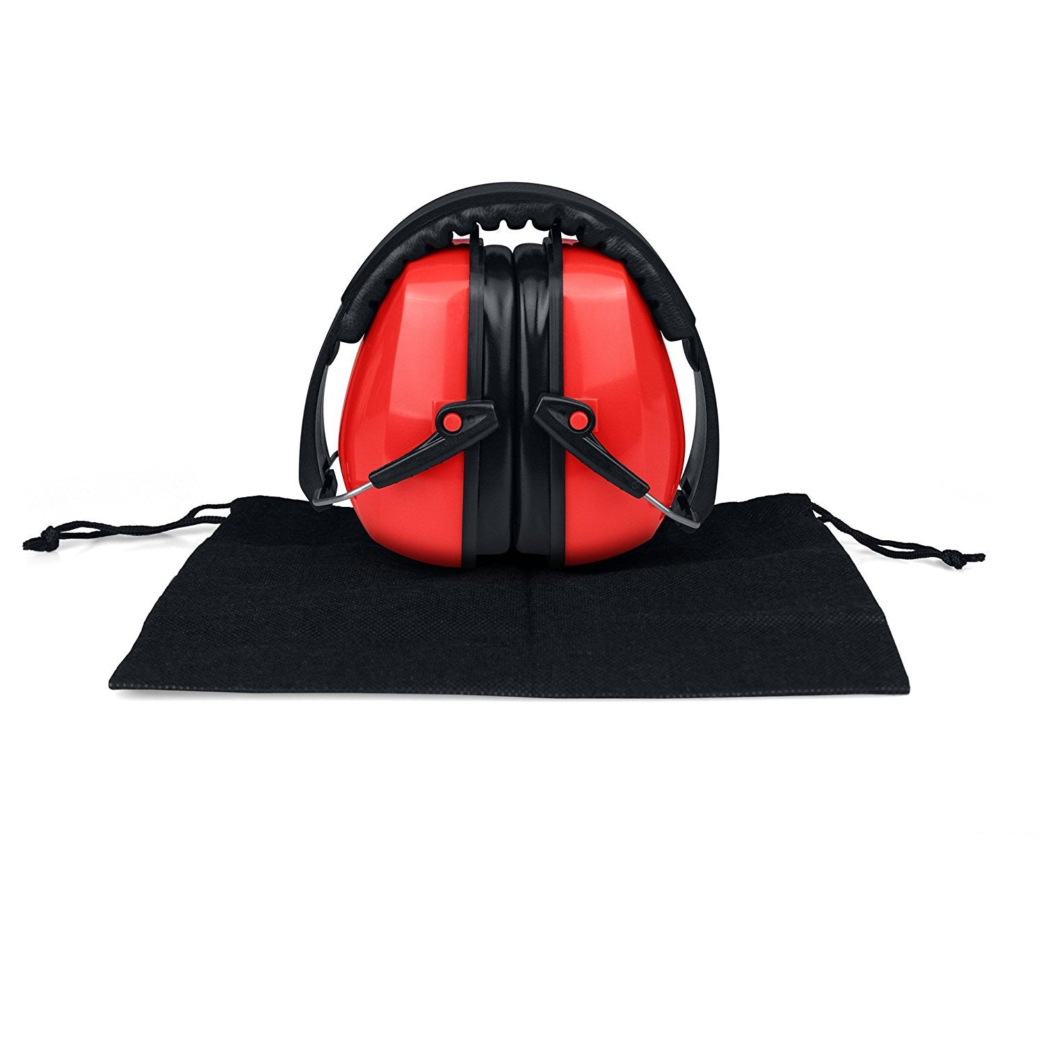 Safety Ear Muffs Adjustable Adult Size Noise Canceling Ear Hearing Protection Red