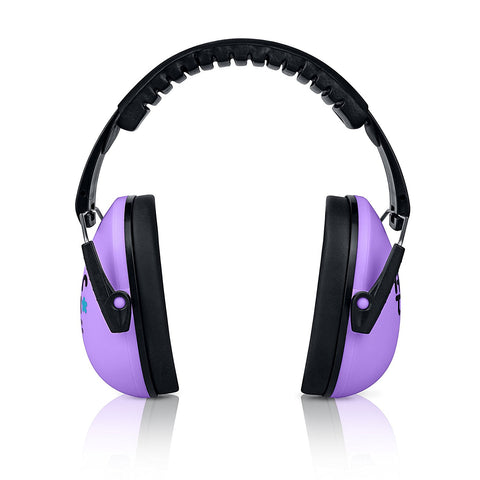 Lavender Senna Earmuffs Hearing Protection with Travel Bag