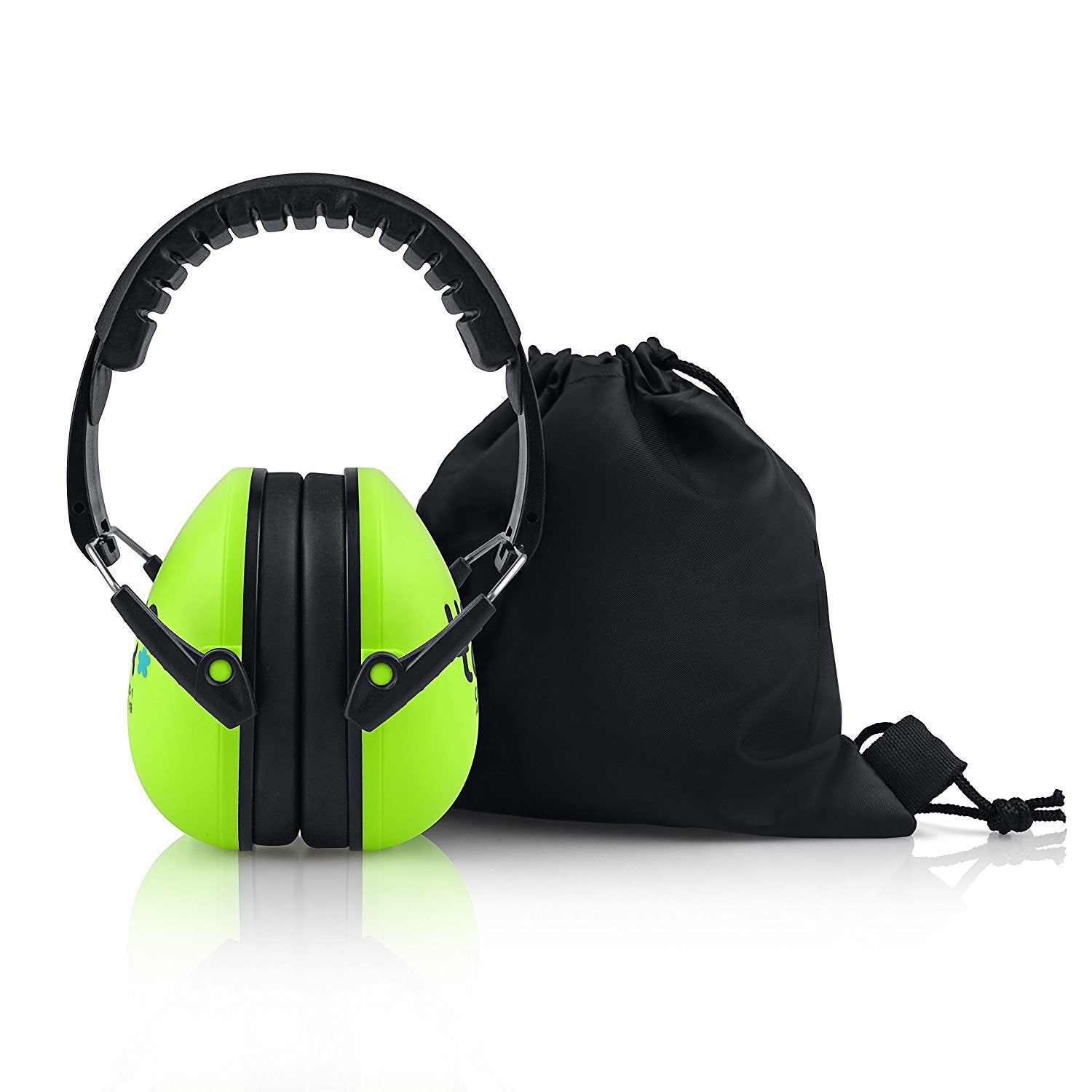 Electric Lime Senna Earmuffs Hearing Protection with Travel Bag