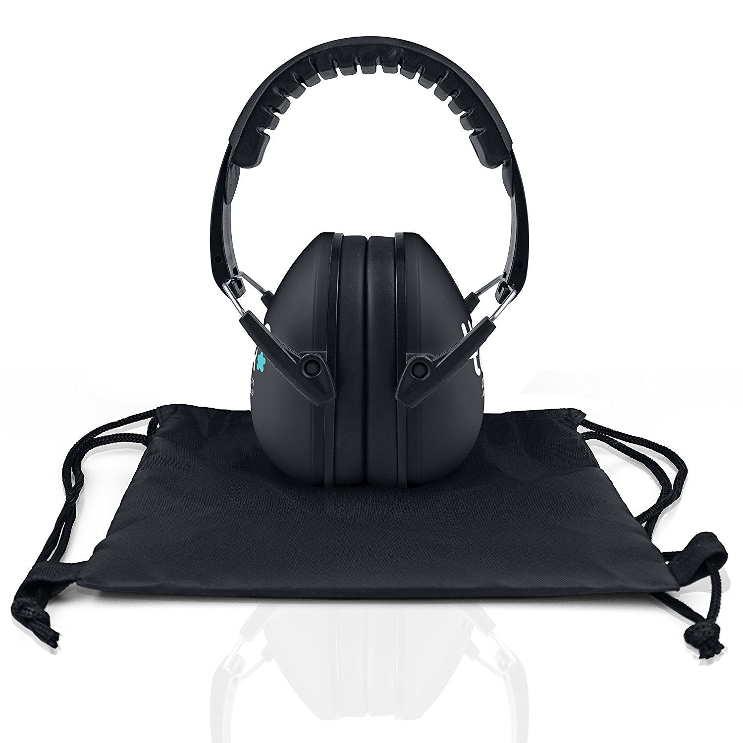 Licorice Black Senna Earmuffs Hearing Protection with Travel Bag