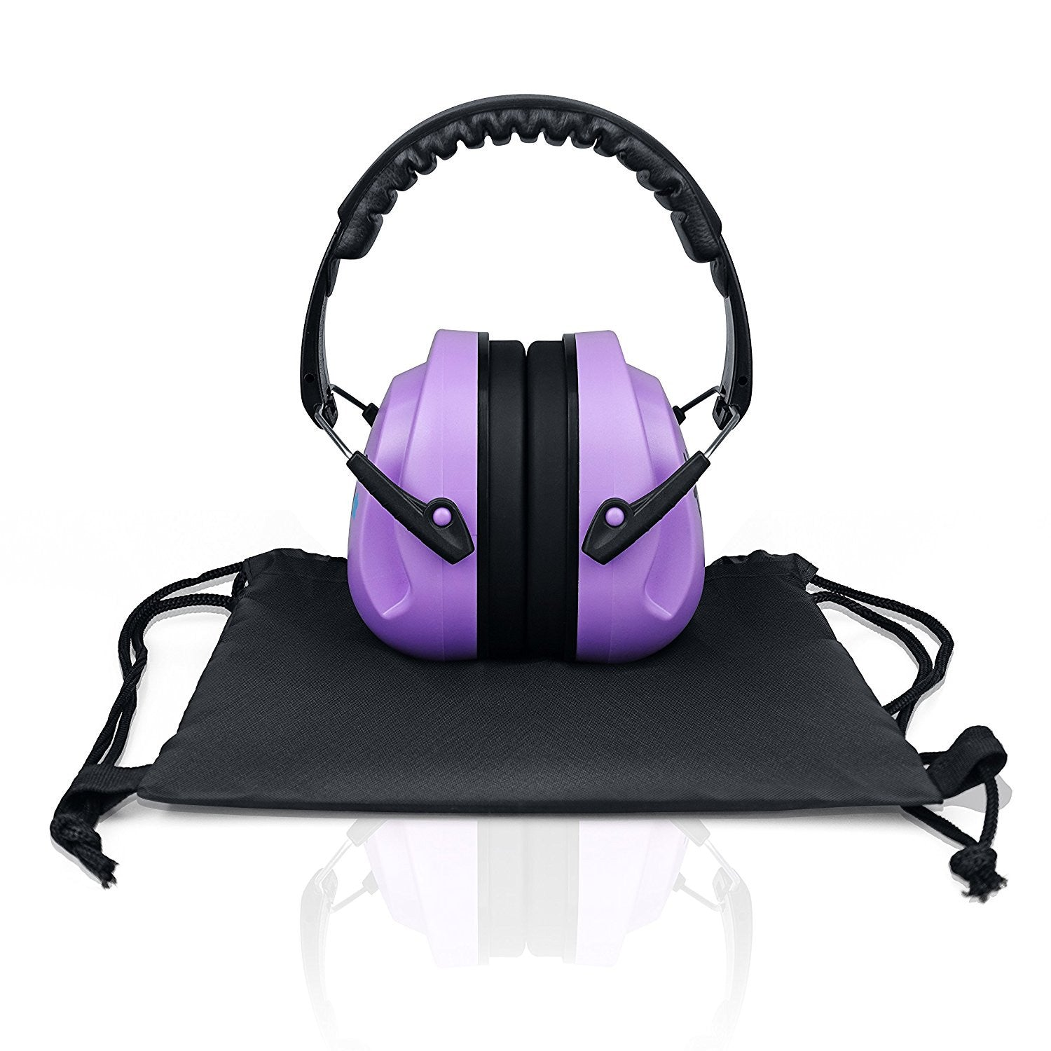 Purple HearTek Sammie Earmuffs Hearing Protection with Travel Bag