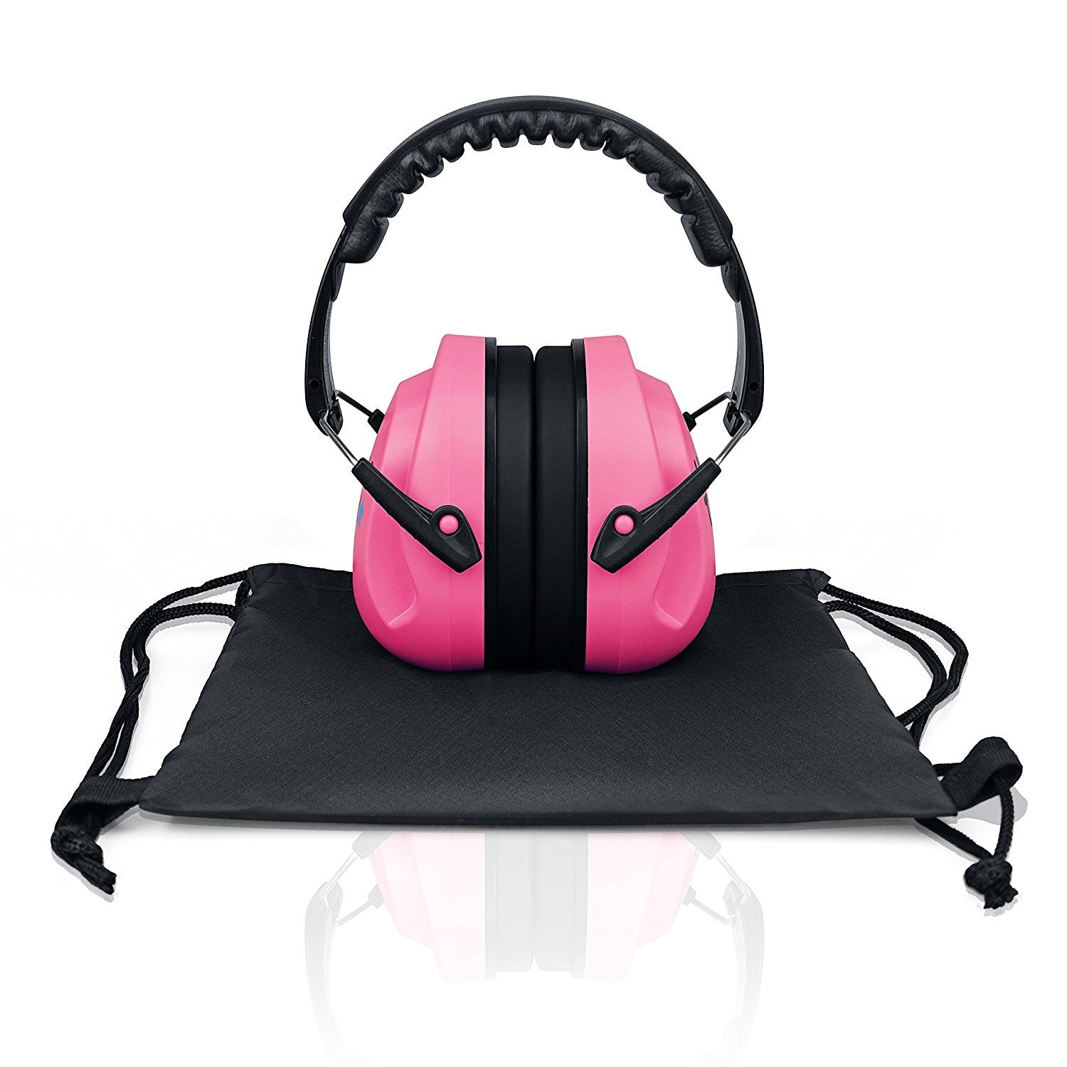 Pink HearTek Sammie Earmuffs Hearing Protection with Travel Bag